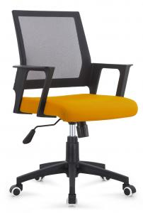 China Multi Coloured Office Computer Chair With Nylon Castors Fabric With PP Cover Back on sale