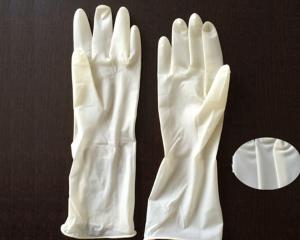 China Polymer Coating Sterile Latex Surgical Gloves  / Long Arm Latex Gloves on sale