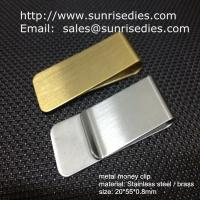China Classic cash money clip credit card holder, custom brushed brass cash money clips on sale