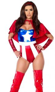 China Darling Domination Sexy Superhero Costume Wholesale with Size S to XXL Available on sale