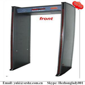 China HZ-600 Walk Through Metal Detector with 6 zones, LED pillar lame waterproof metal detector door on sale