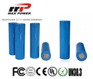China 18650 2600mAh Lithium Ion Rechargeable Batteries 3.7V For Power Bank on sale