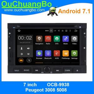 China Ouchuangbo car multimeia stereo android 7.1 for Peugeot 3008 5008 gps navi dual zoneBluetooth Phone 4*45 Watts amplifier on sale