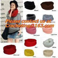 China Large Women Warm Winter Long Striped Shawl Wrap Tassel Scarf Thick Wool Crochet Scarves on sale