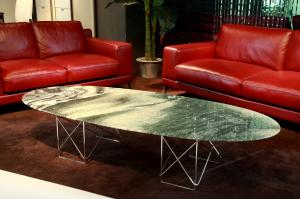 Quality Luxury Round Marble Coffee Tables , Modern Marble Side Table , Oval coffee for sale