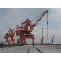 China Rail Mounted Level Luffing Portal Crane 400 Ton With Container Spreader on sale