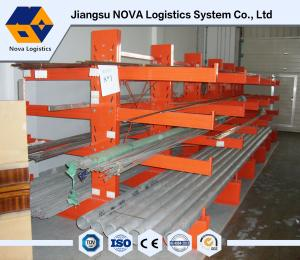 China 75mm Adjustable Cantilever Warehouse Storage Rack With 500 Kg Per Arm on sale
