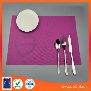 China PVC square Placemats Insulation Mats Coasters Kitchen/Dining Tables mat on sale