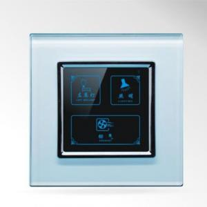 China US/AU Standard Touch Screen Light Switch 3 Gangs Tempered Glass Panel Touch Switch SWL-13 on sale