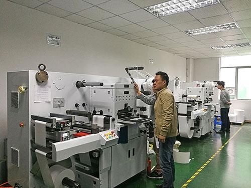 Label die-cut factory