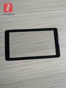 China china glass factory OEM 5inch cover lens 0.7mm with 2.5d polished edges CNC processed for touch panel PC on sale