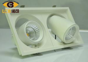 China Commercial 48W Tiltable Led Grill Downlight Led Ceiling Lamps AC100V - 240V on sale