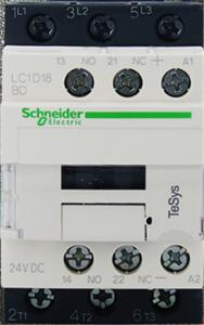 China Schneider LC1-D18BD DC Electrical Contactor Switch TeSys 24 V DC Coil Motor Contactor on sale