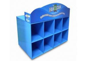 China Fashion Blue Cardboard Counter Displays Stores ENCD047  with  UV coating for collecting on sale