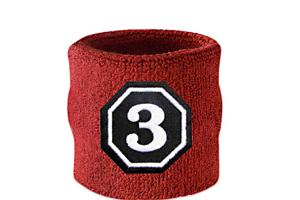 China Simple Patterns Personalized Wrist Sweatbands For Football / Basketball on sale