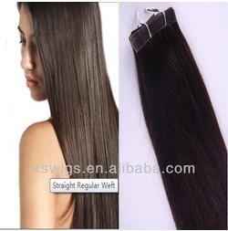 China AAAA 100% High quality Indian human hair extension-tape hair,100g/pc on sale