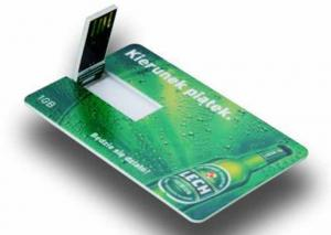China 12Mbps Transmission Credit Card Style Promotional Usb Flash Drives on sale