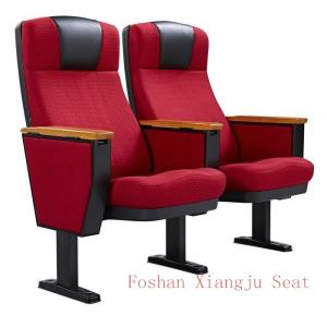China PP Shell Solid Wood Arm 580mm Dimention Auditorium Chair For Conference Room Seating on sale