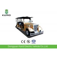 Custom 11 Seater Antique Electric Cars Sightseeing Vehicle For Airport Reception