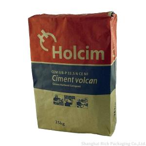 China Cement Kraft Paper Bags With Valve on sale