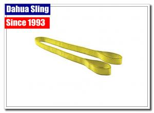 China Commercial Woven Loading Straps And Slings , Flat Loop Eye To Eye Sling on sale