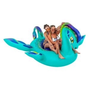 China Fun 8ft Sea Monster Inflatable Pool Floats Lounge Raft Swim Party Toys on sale
