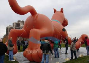 China Customized PVC Giant Advertising Balloons Dog Character Shaped 4M Dia on sale