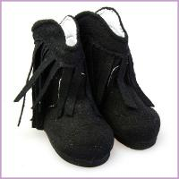 cotton 18 inch doll shoes black ladies boot shoes supplier