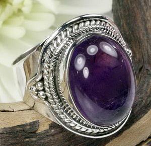 China Sterling Silver Gemstone Ring-925 Silver Gemstone Jewelry supplier