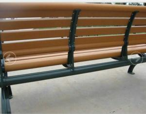 China Green Aluminium Frame Composite Garden Bench , Public Place Synthetic Wood Bench on sale