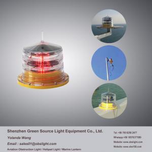 China IP68 Solar Aviation Light on Telecommunication Tower obstruction warning for transportation on sale