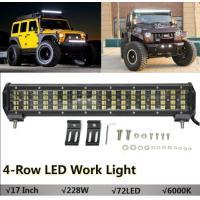 17inch 228W LED Work Light Bar 4-Row Combo Flood Spot Fog Beam Driving Lamp