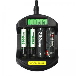 China LiFePO4 14500/10440 NiMH AA/AAA LCD Quick Battery Charger(USB 5V+DC 12V) on sale