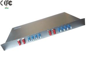 Quality 18 Channels 1270-1610nm Dual Fiber CWDM Mux Demux With Monitor Port 1U Rack for sale