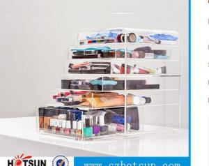 China 2016 Customized OEM acrylic organizer cosmetics display acrylic makeup organizer on sale