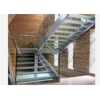 China U channel modern baluster tempered glass stairs usage glass railing prices on sale