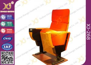 China Herman Style 600mm Width Auditorium Seating Chairs With Functional Writing Tablet on sale