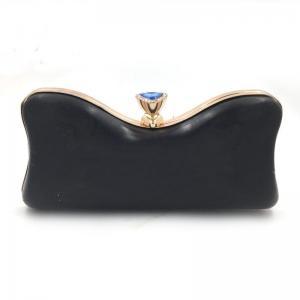 China Fashion Design Diamond Decorative Gold Plastic Shell Box Purse Case Frame on sale