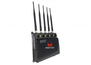 China Black Color Five Band Blocker Cell Phone Signal Jammer with Adjustable RF Signal on sale