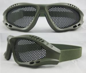 China Anti-fog Metal Mesh Military Protective Glasses With Adjustable Straps BP-2037 on sale