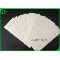 China 1.4mm 100% Virgin Pulp White Coaster Board For Making Car Air Fresher Or Coaster on sale