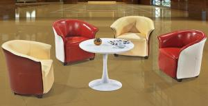 China modern PU leather restaurant lobby chair furniture/PU leather restaurant swivel chair on sale