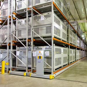China Steel Structure Mobile Shelving Systems Corrosion Protection Customized Width on sale