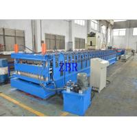 Wall Panel Roll Forming Machine , Tile Roof Making Machine Galvanized Metal Roofing Equipment