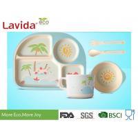 China Unbreakable Bamboo Kids Tableware Eco - Friendly Summer Pattern Mug Spoon / Fork on sale