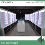 China Wood showcase retail mobile phone shop interior design cabinet display wholesale