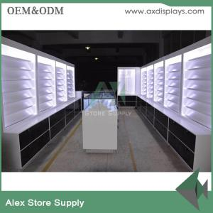 Quality Wood Showcase Retail Mobile Phone Shop Interior Design Cabinet  Display For Sale