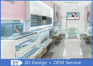 China Creative Jewelry Store Showcases With MDF + Glass + LED + Lock / Jewellery Shop Furniture on sale