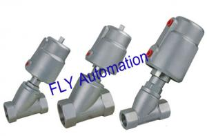 China 2000 Threaded Port 2/2 Way Angle Seat Valve Integrated Pneumatic PPS Actuator on sale