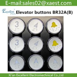 China Otis Elevator buttons accessories/ West Otis BR32A (B) Braille buttons / BR32 Buttons on sale